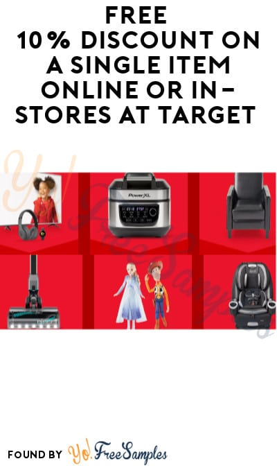FREE 10% Discount on a Single Item Online or In-Stores at Target (Target Circle Required)