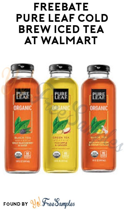 FREEBATE Pure Leaf Cold Brew Iced Tea at Walmart (Ibotta Required)
