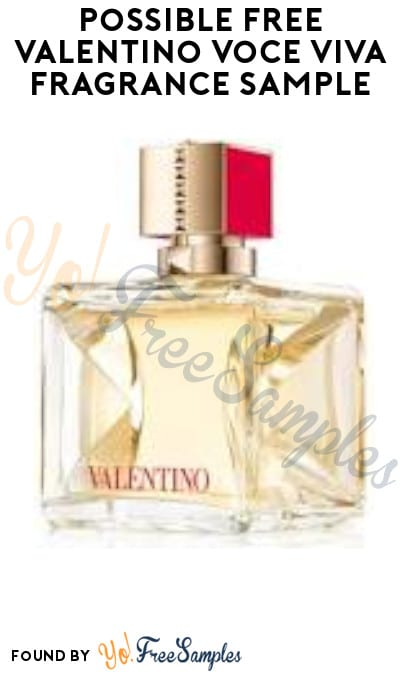 Possible FREE Valentino Voce Viva Fragrance Sample (Facebook Required)