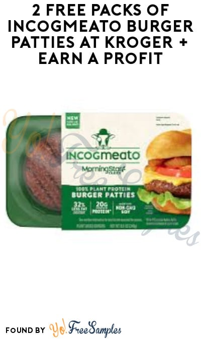 2 FREE Packs of Incogmeato Burger Patties at Kroger + Earn A Profit (Account/ Coupon & Ibotta Required)