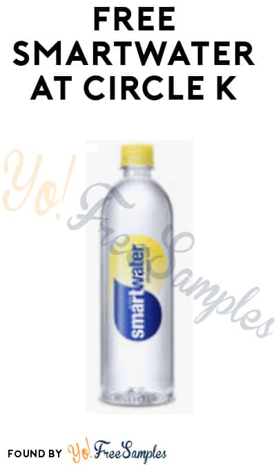 FREE Smartwater at Circle K (Coupon/ App Required)