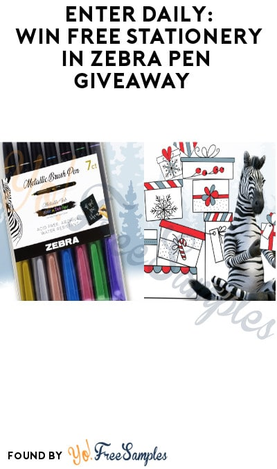 Enter Daily: Win FREE Stationery in Zebra Pen Giveaway