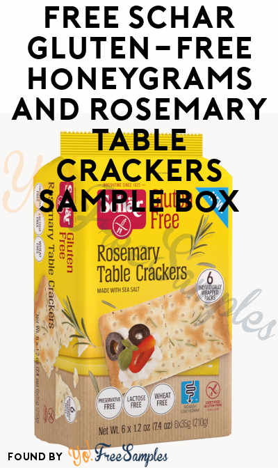 FREE Schär Gluten-Free Honeygrams & Rosemary Table Crackers Sample Box