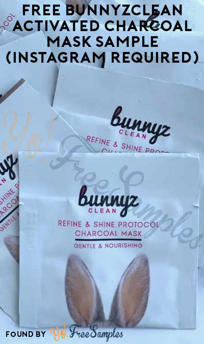 FREE BunnyzClean Activated Charcoal Mask Sample (Instagram Required)