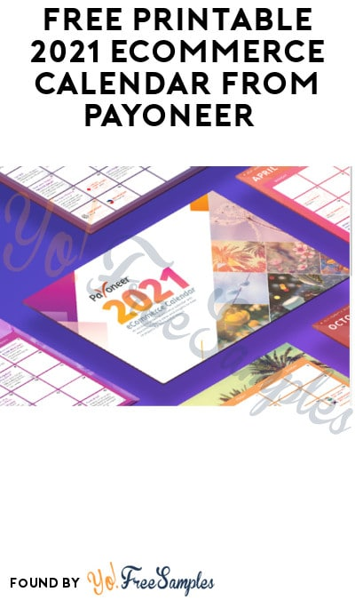 FREE Printable 2021 eCommerce Calendar from Payoneer