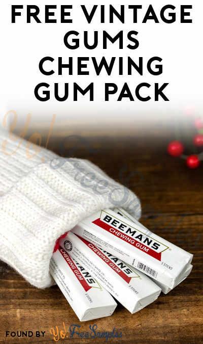 FREE Vintage Gums Chewing Gum Pack