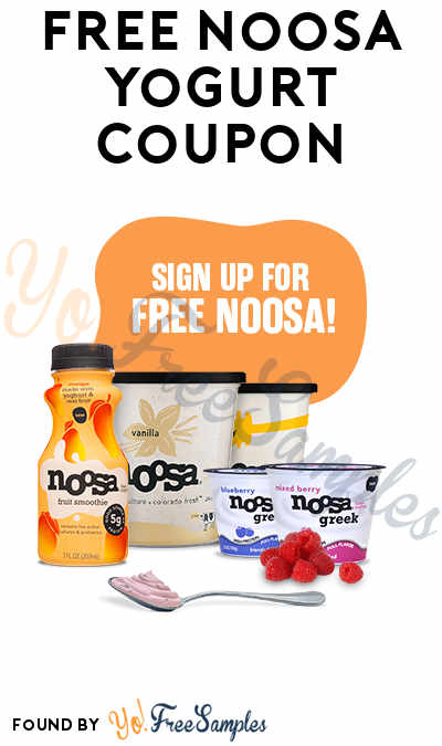 FREE Noosa Yogurt Coupon