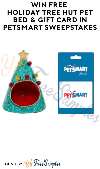 Win FREE Holiday Tree Hut Pet Bed & Gift Card in Petsmart Sweepstakes