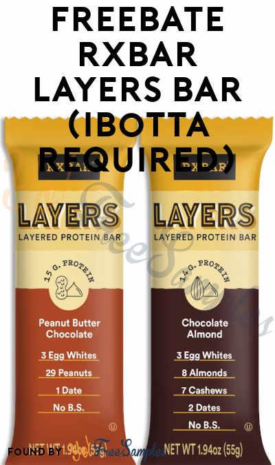 FREEBATE RXBAR Layers Bar (Ibotta Required)