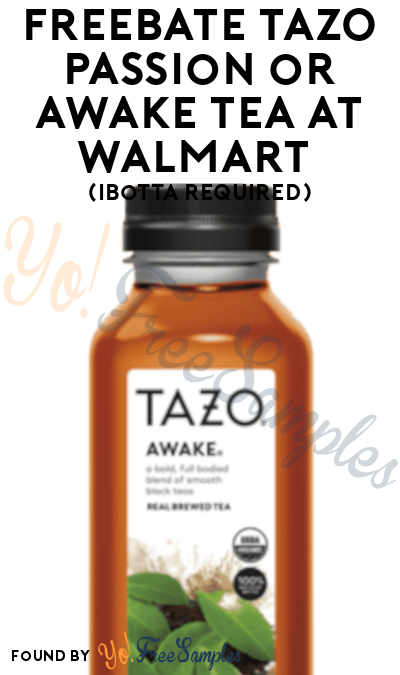 FREEBATE TAZO Passion or Awake Tea at Walmart (Ibotta Required)