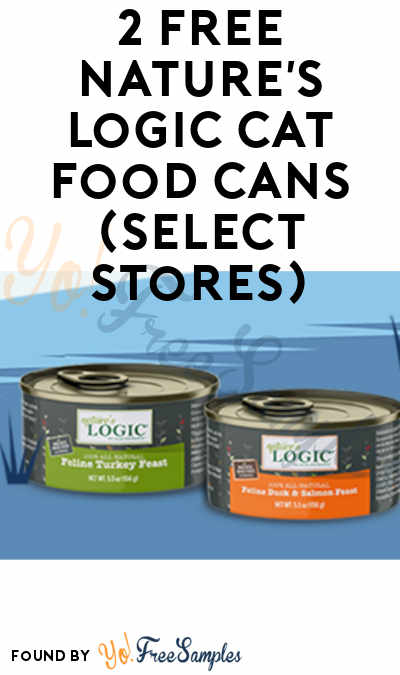 2 FREE Nature's Logic Cat Food Cans (Select Stores)