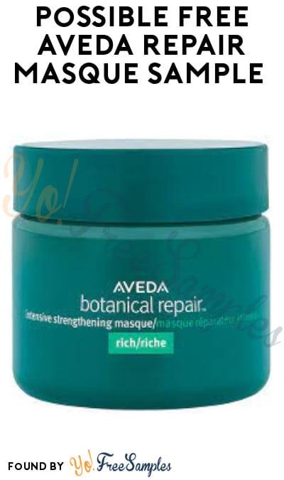 Possible FREE Aveda Repair Masque Sample (Facebook Required)