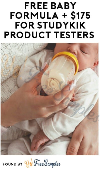 FREE Baby Formula + $175 for StudyKIK Product Testers (Must Apply)