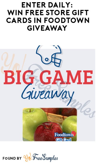 Enter Daily: Win FREE Store Gift Cards in Foodtown Giveaway (Select States Only)