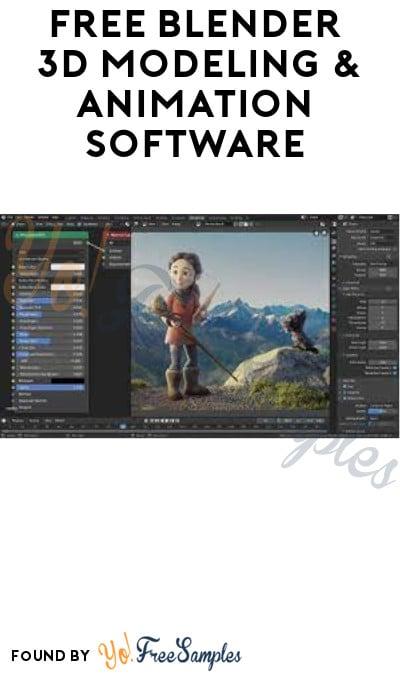 FREE Blender 3D Modeling & Animation Software