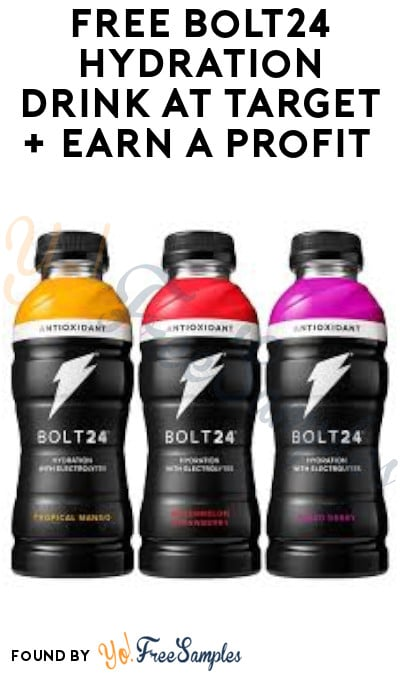 FREE Bolt24 Hydration Drink at Target + Earn A Profit (Ibotta Required)