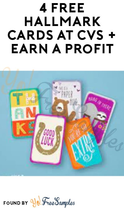 4 FREE Hallmark Cards at CVS + Earn A Profit (Coupon/ App Required)