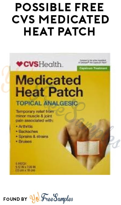Possible FREE CVS Medicated Heat Patch (App/ Coupon Required)