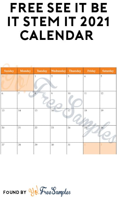 FREE See It Be It Stem It 2021 Calendar (Twitter Required)