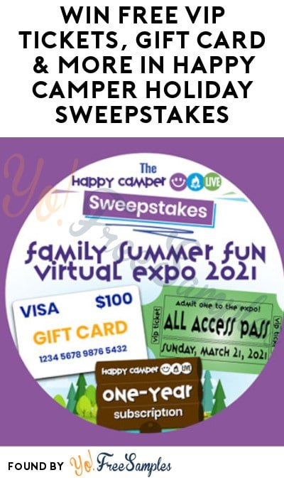 Win FREE VIP Tickets, Gift Card & More in Happy Camper Holiday Sweepstakes
