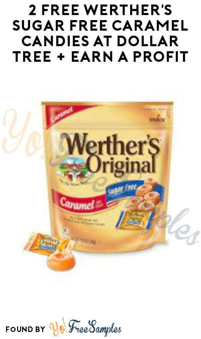 2 FREE Werther's Sugar Free Caramel Candies at Dollar Tree + Earn A Profit (Swagbucks Required)
