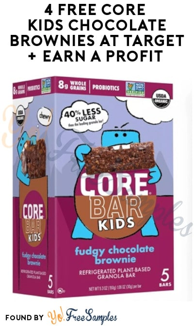 4 FREE Core Kids Chocolate Brownies at Target + Earn A Profit (Target Circle & Ibotta Required)