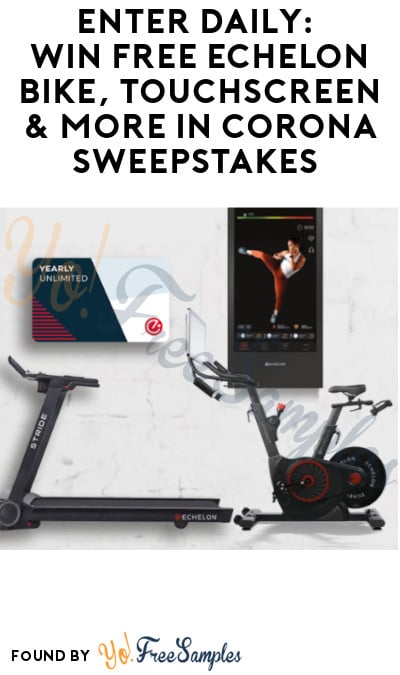 Enter Daily: Win FREE Echelon Bike, Touchscreen & More in Corona Sweepstakes (Select States + Ages 21 & Older Only)