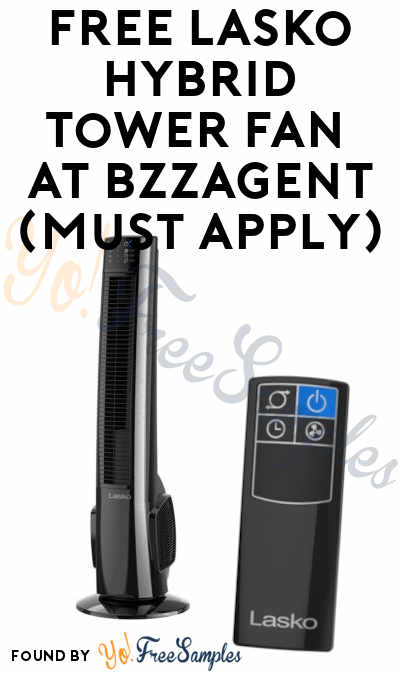 FREE Lasko Hybrid Tower Fan with Remote Control At BzzAgent (Must Apply)