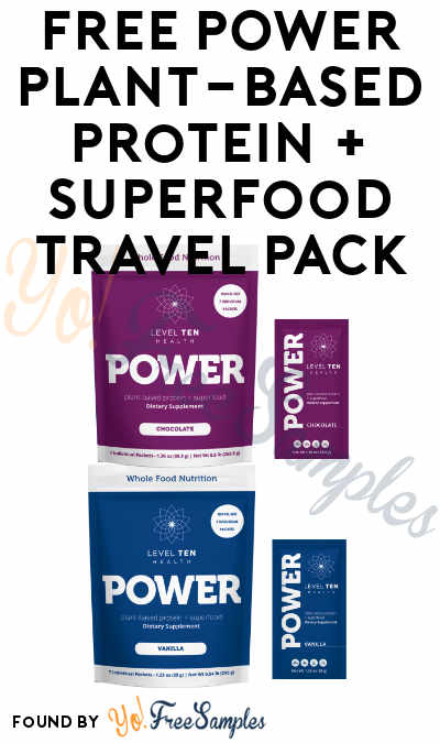 FREE POWER Plant-Based Protein + Superfood Travel Pack