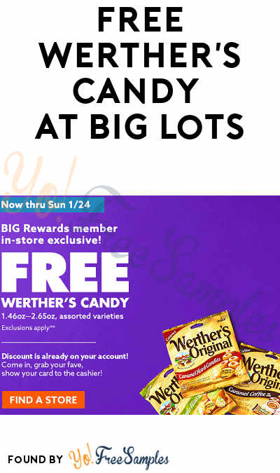 FREE Werther's Candy at Big Lots (Rewards Card Required)