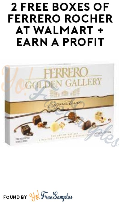 2 FREE Boxes of Ferrero Rocher at Walmart + Earn A Profit (Swagbucks Required)