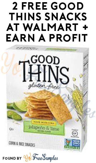2 FREE Good Thins Snacks at Walmart + Earn A Profit (Ibotta & Checkout51 Required)