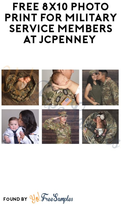 FREE 8×10 Photo Prints for Military Service Members at JCPenney (Coupon + ID Required)