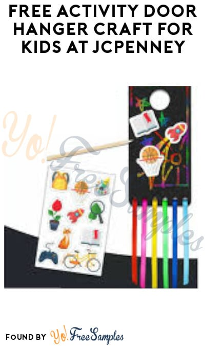 FREE Activity Door Hanger Craft for Kids at JCPenney
