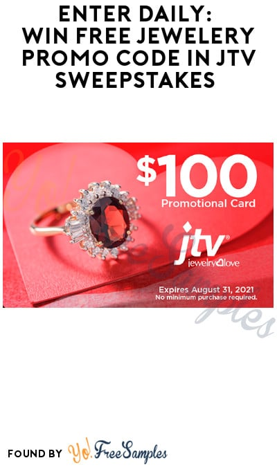 Enter Daily: Win FREE Jewelery Promo Code in JTV Sweepstakes (Ages 21 & Older Only)
