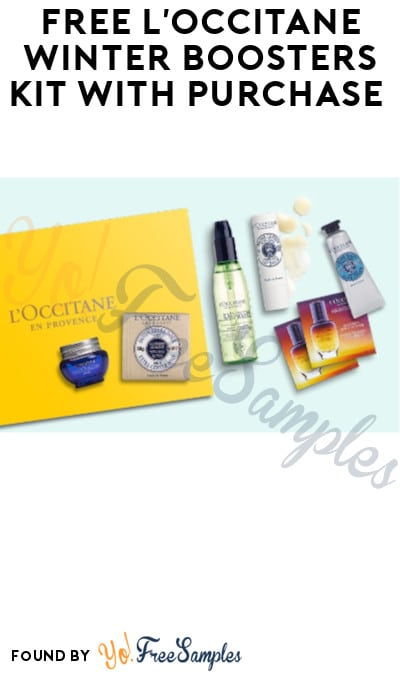 FREE L'OCCITANE Winter Boosters Kit with Purchase (Code Required)