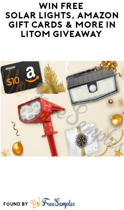 Win FREE Solar Lights, Amazon Gift Cards & More in LITOM Giveaway (Account Required)