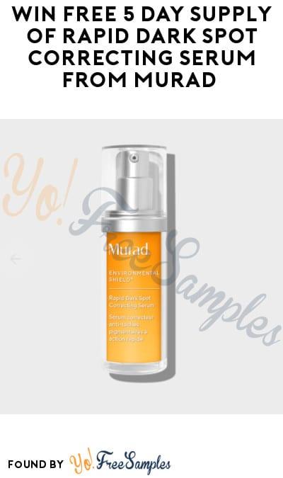 Possible FREE Murad Rapid Dark Spot Correcting Serum (Instagram Required)