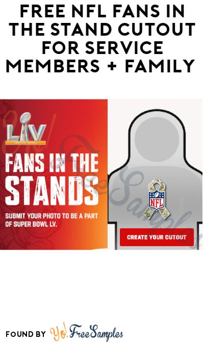 FREE NFL Fans in The Stand Cutout for Service Members + Family