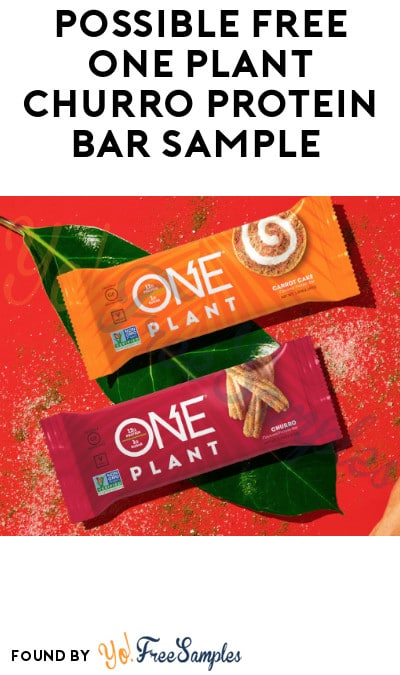 Possible FREE One Plant Churro Protein Bar Sample (Facebook Required)