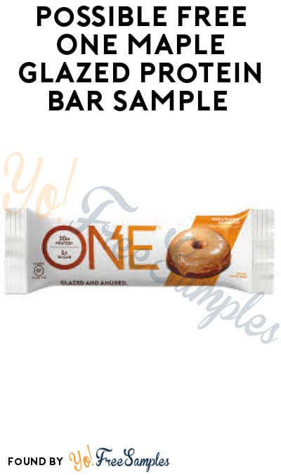 Possible FREE One Maple Glazed Protein Bar Sample (Facebook Required)