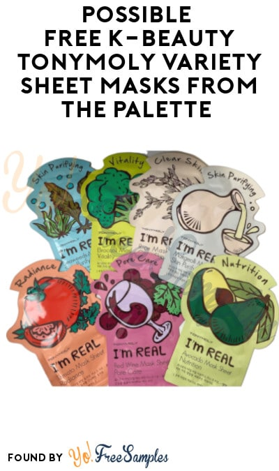 Possible FREE K-Beauty TONYMOLY Variety Sheet Masks from The Palette (Account Required)