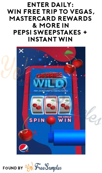 Enter Daily: Win FREE Trip to Vegas, MasterCard Rewards & More in Pepsi Sweepstakes + Instant Win (App Required)