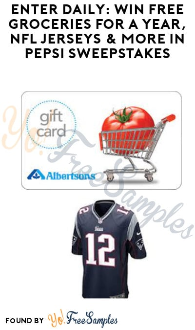 Enter Daily: Win FREE Groceries for A Year, NFL Jerseys & More in Pepsi Sweepstakes