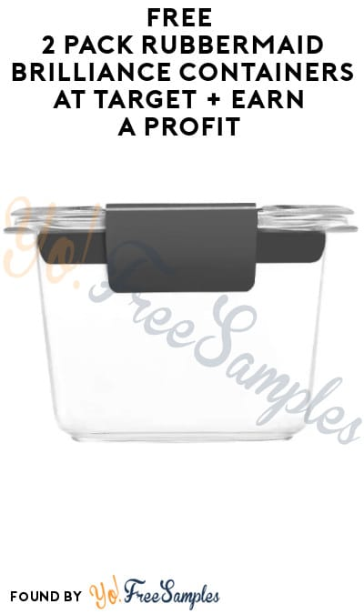 FREE 2 Pack Rubbermaid Brilliance Containers at Target + Earn A Profit (Online Only  Ibotta Required)