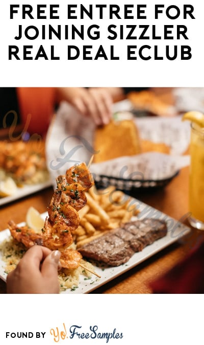 FREE Entrée for Joining Sizzler Real Deal eClub