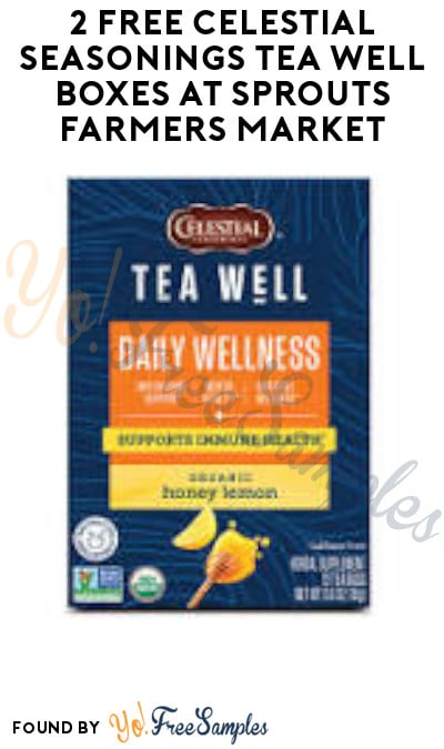 2 FREE Celestial Seasonings Tea Well Boxes at Sprouts Farmers Market (Account & Ibotta Required)