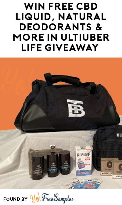 Win FREE CBD Liquid, Natural Deodorants & More in UltiUber Life Giveaway (Ages 21 & Older Only)
