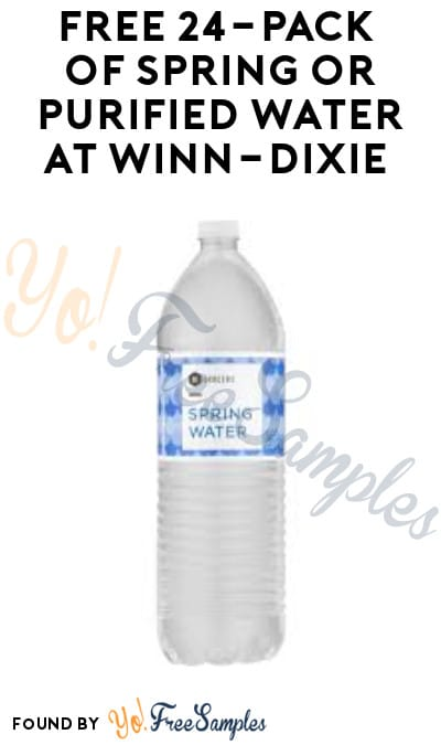 FREE 24-Pack of Spring or Purified Water at Winn-Dixie (Account/ Coupon Required)