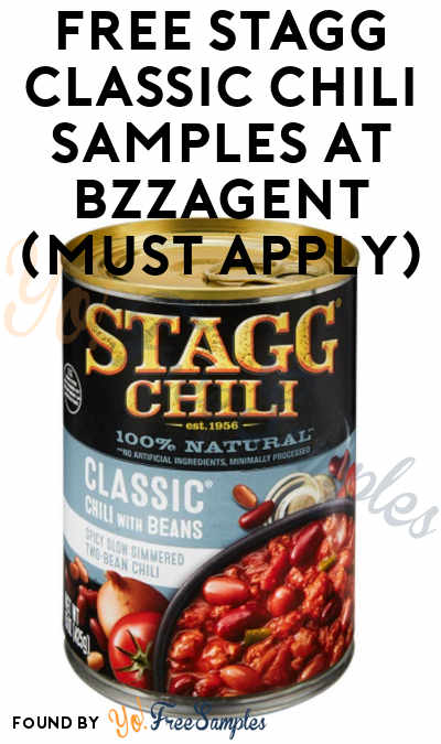 FREE Stagg Classic Chili Samples At BzzAgent (Must Apply)